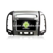 Lecteur multimédia usb de voiture de quadruple noyau, wifi, BT, lien de miroir, DVR, SWC pour Hyundai santafe 2010-2012 haut niveau