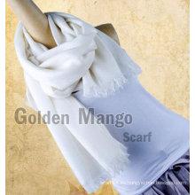 Mantón de lana de la cara de la tela cruzada del color sólido