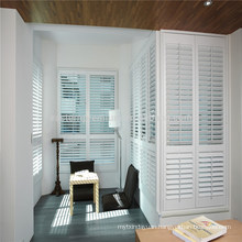 pure white color pvc window shutter for large windows