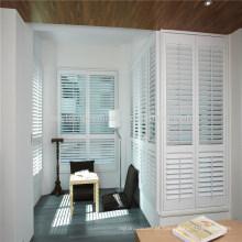 obturador branco puro da janela do pvc da cor para grandes janelas