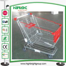 Starker Einkaufslaufkatzen-Wagen 180L mit vorderer Laufkatzen-Werbungs-Brett