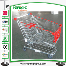 180L Strong Shopping Trolley Cart with Front Trolley Advertising Board