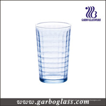 Vaso de agua de vidrio azul 220ml