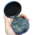 Round Case Flip Cover Euro Coins Holder Box