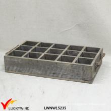 Антикварные декоративные многосекционные деревянные плантаторные ящики