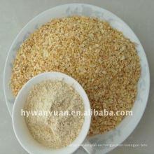 precio de fábrica seco picado gránulos de ajo especia