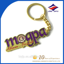 Gold Plating Fashion Promotional Metal Label Keychain