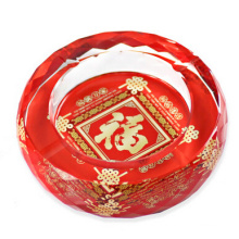 Decoración de cristal roja en forma de piña K9 de la nueva llegada para el hogar