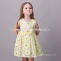 Robe de Fête de Bébé Filles Simple Robe de Filles Enfant Jaune Belle Fille Sans Robe