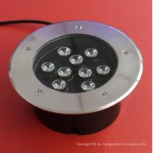 85-265V IP67 weißes 9W LED unterirdisches Licht