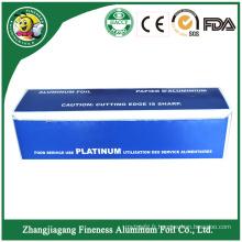 Rouleau de papier d'aluminium ménager avec emballage en papier