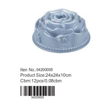 Flower shaped aluminum cake mould