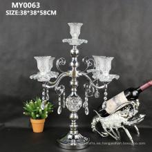 Los últimos candelabros de cristal de la decoración de la boda del partido para los centerpieces de la tabla de la boda