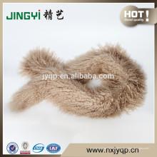 Wholesale tibétain mongol agneau peau fourrure écharpe