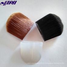 Rosto, blush, escova, cosmético, bochecha, maquiagem, escova, aplicador