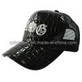 Fashion Shinning Fake Leather Mesh Leisure Trucker Hat (TMT1914)