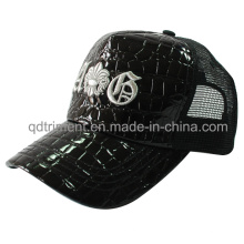 Fashion Shinning Fake Leather Mesh Leisure Trucker Hat (TMT1914)