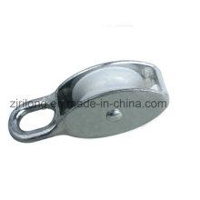 Polia fixa de liga de zinco com roda de nylon simples Dr-502z