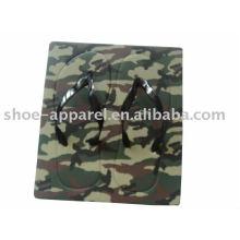 2013 chinelos de flip flops de placa de camuflagem