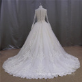 Ball Gown Champagne Muslim Long Sleeve Wedding Dress (XF1080)