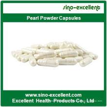 Gélules de poudre de perles blanchies à la perle certifiées GMP