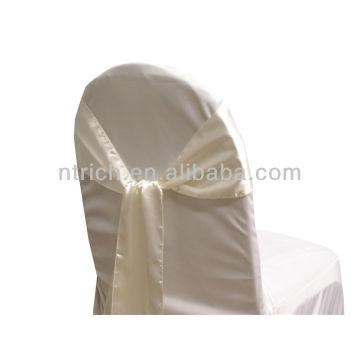 ceinture de chaise satin Ivoire, fantaisie vogue cravate, noeud papillon, noeud, housses bon marché de mariage et jupettes à vendre