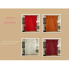 100%polyester fancy valance jacquard curtain