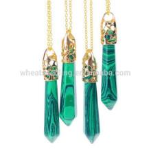 Ожерелья ювелирные изделия 2015 мода позолоченный природный камень кулон ожерелье