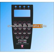 Diseño de teclado de membrana y fabricante