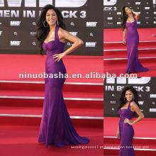 Special Design Sex Halter Celebrity Red Carpet Dress