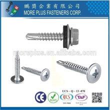 Taiwan Modificar Truss Head Wafer K-Lath Phillip Drive BSD Thread No.2 Black Phosphate Point Self Drilling Screw