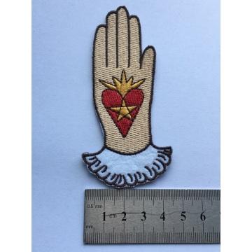 maßgeschneiderte Liebe in Hand Stickerei Patch für Kleidung