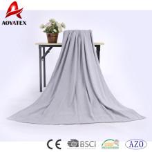 cobertor super macio do inverno do lance do sólido do algodão 100% da promoção