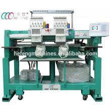 Kompakt 2 Köpfe 9 Nadeln Kappe / T-Shirt Computergestützte Stickmaschine