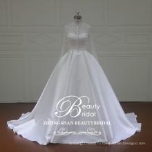 XFM034 элегантный микадо свадебное платье с съемная куртка 7 панелей свадебные платья для свадьбы