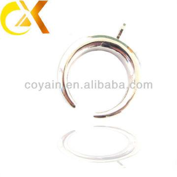 China alibaba Colgante de los hombres de la joyería del acero inoxidable, colgante hueco en forma de medialuna