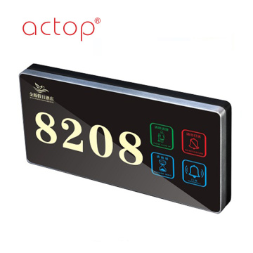 Placa de puerta de hotel Actop Smart