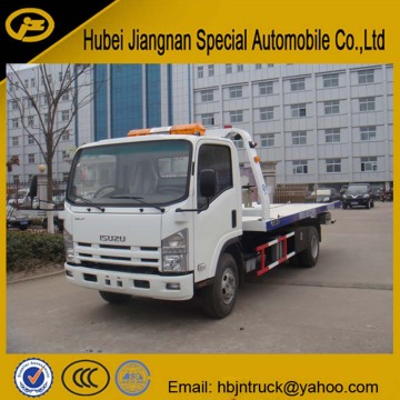 Isuzu ELF camión de remolque de plataforma