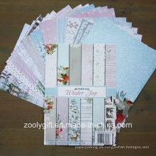 Conjunto de papel de colección de tarjetas de Navidad Paper Scrapbooking A4 Papel A5 DIY Scrapbook Paper