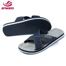 Customized new design high quality flat strap summer eva slipper for man