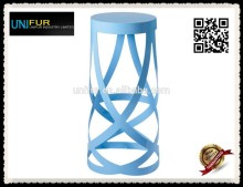 Colorful powdercoated round bar stool for indoors and outdoors