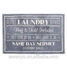 100% algodão luxo padrão de impressão carta cor escura tapete de banho BM-016