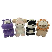 Peluche hippopotame mouton panda et lion