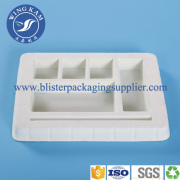 Purple Milky-white Color Flocking Blister For Electric Products Or Books