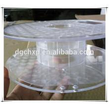 bobina de carrete de plástico para filamento de impresora 3d