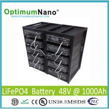 Batería de litio recargable 48V 1000ah para el sistema de energía solar / fuera de la red
