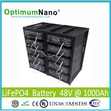 Bateria de lítio recarregável 48V 1000ah para o sistema de energia solar / fora da grade