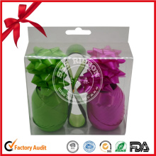 Single Faced Colorful Satin Gift Lacquer Ribbon Bow for Christmas