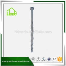 Hex Ground Screw Pole Anchor With Flange