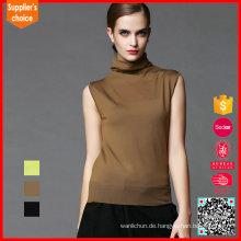 Neueste Design Weste stricken Acryl Pullover Damen ärmellose Sommer Weste